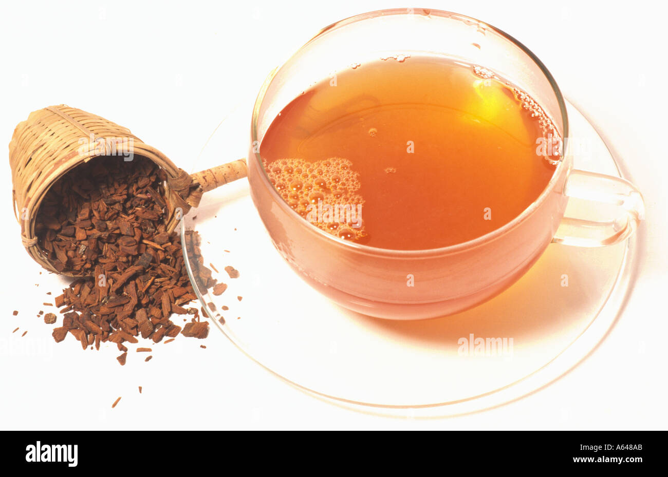 Chinarinde China calisaya ledgeriana Chinabork tea Immagini Stock