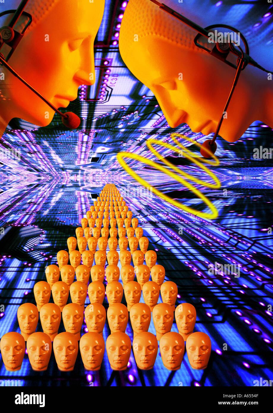Comunicazione concetto astratto di effetti speciali Immagini Stock