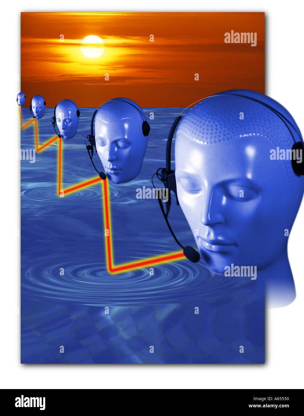 Comunicazione concetto astratto idea effetti speciali Immagini Stock