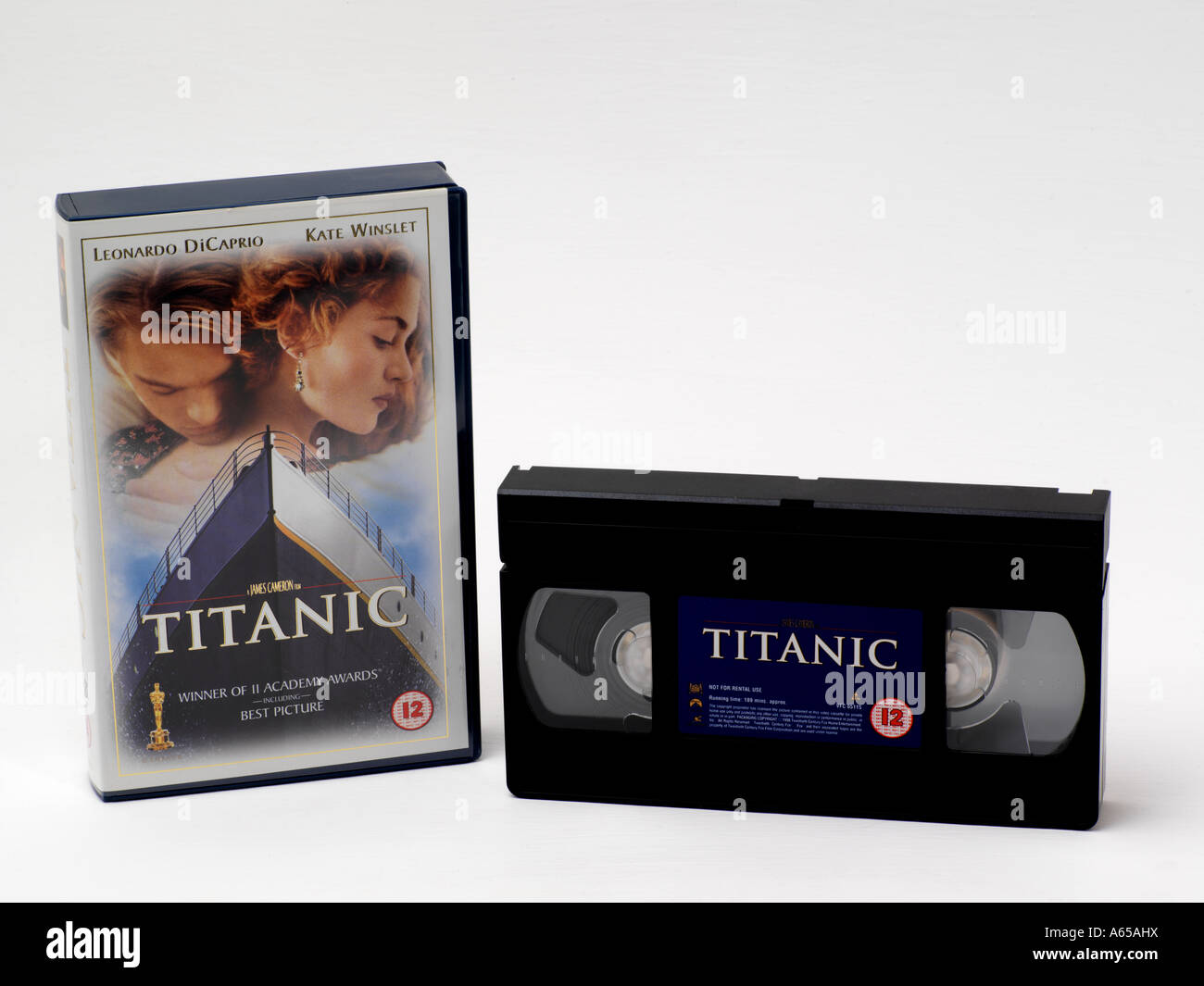 Titanic - Video Cassette e Box Immagini Stock
