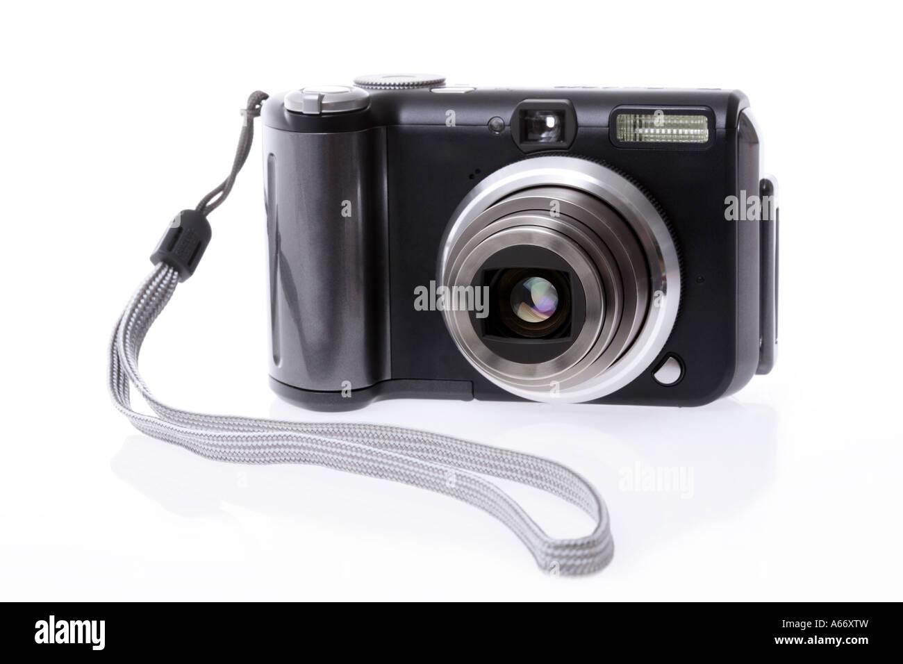 Fotocamera digitale ritagliata su sfondo bianco Immagini Stock