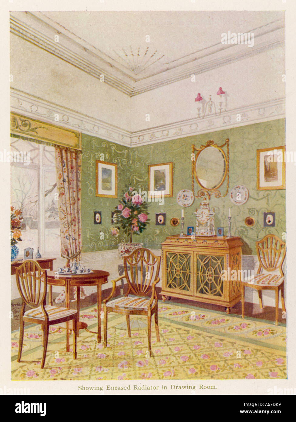 Sala Da The Inglese.Un Inglese Un Sala Da Pranzo Foto Immagine Stock 6563064