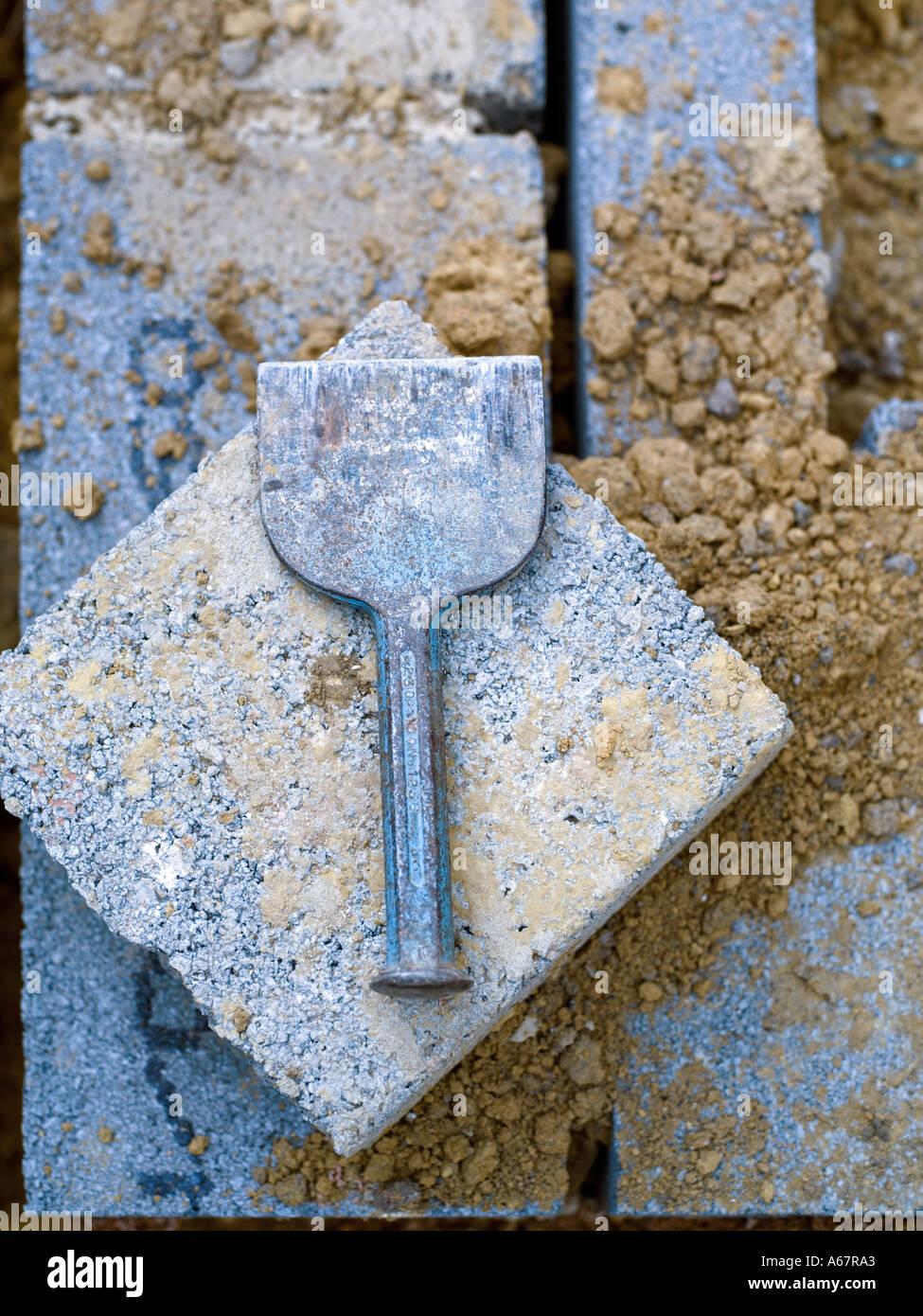 Scalpello a freddo & building block Immagini Stock
