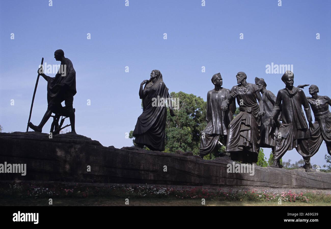 Memoriale dei martiri guidato dal Mahatma Gandhi Delhi Immagini Stock