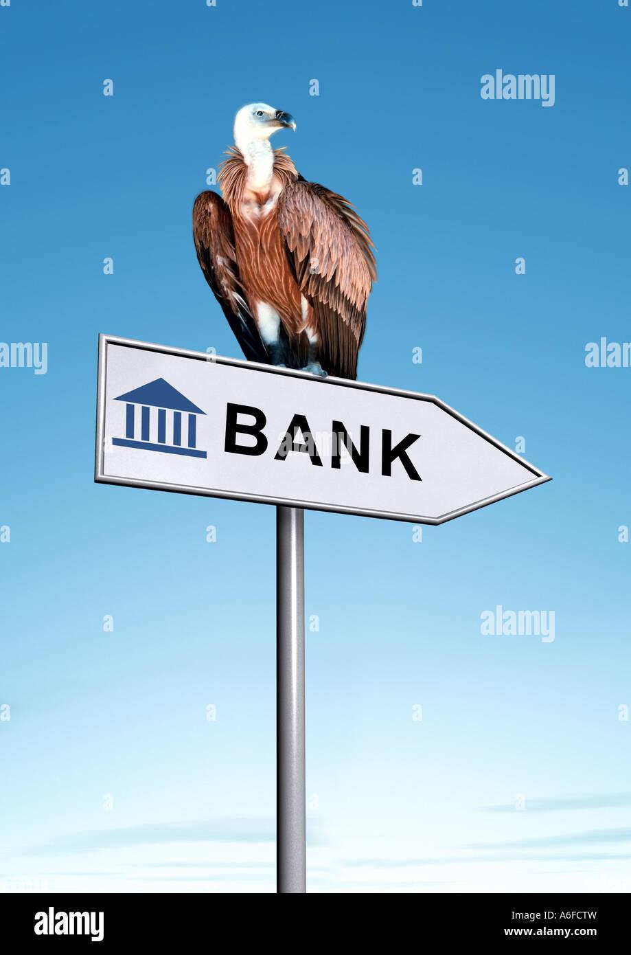In bancarotta Bankrott fallita Immagini Stock