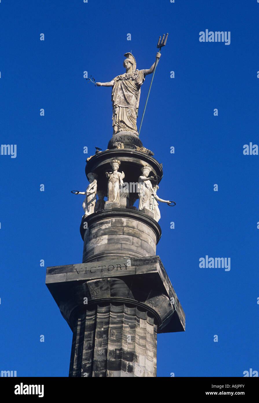 Britannia un monumento in onore di Lord Nelson in Great Yarmouth Immagini Stock