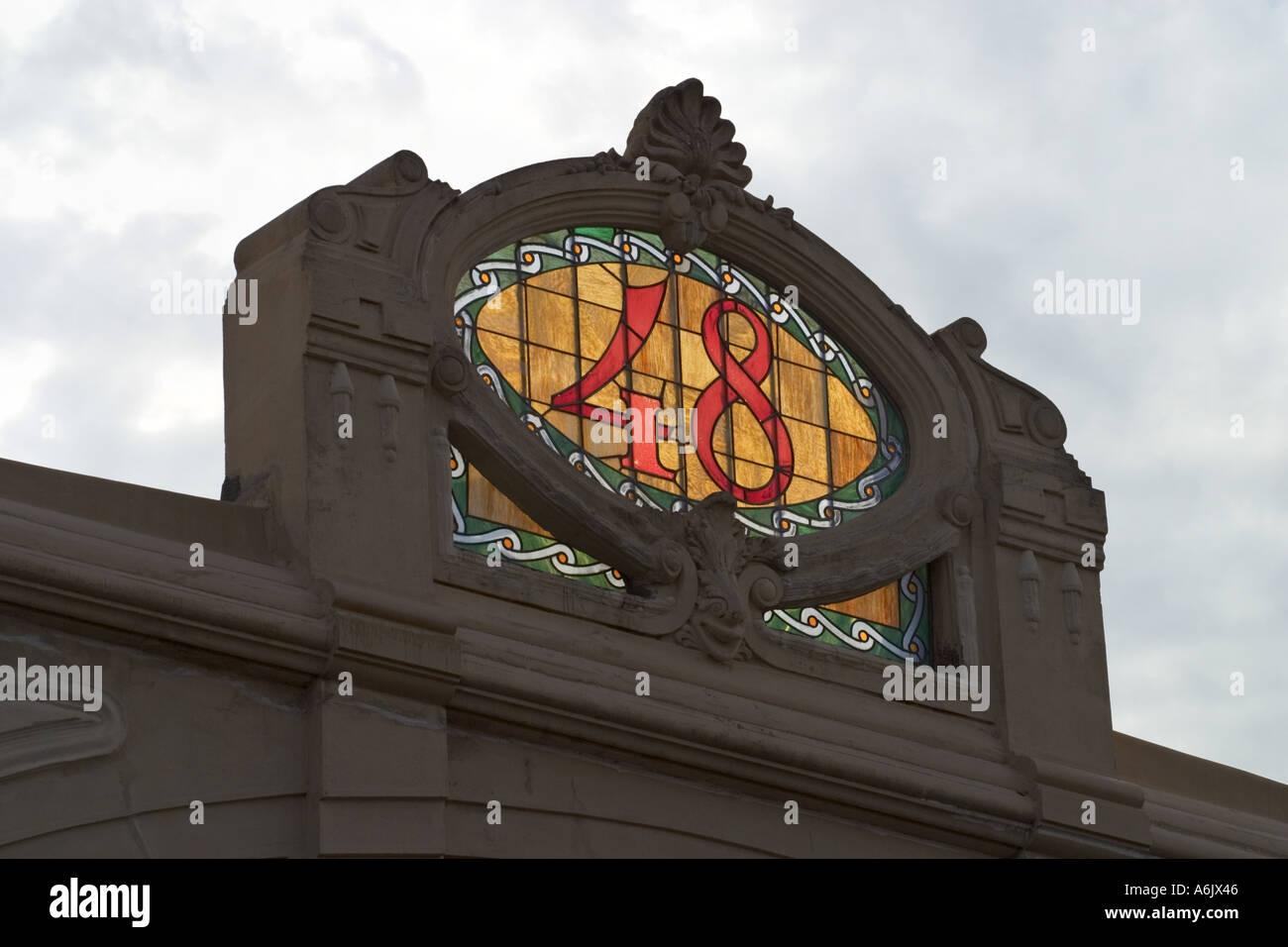 Viareggio toscana italia architettura liberty lungo la passeggiata del lungomare Immagini Stock