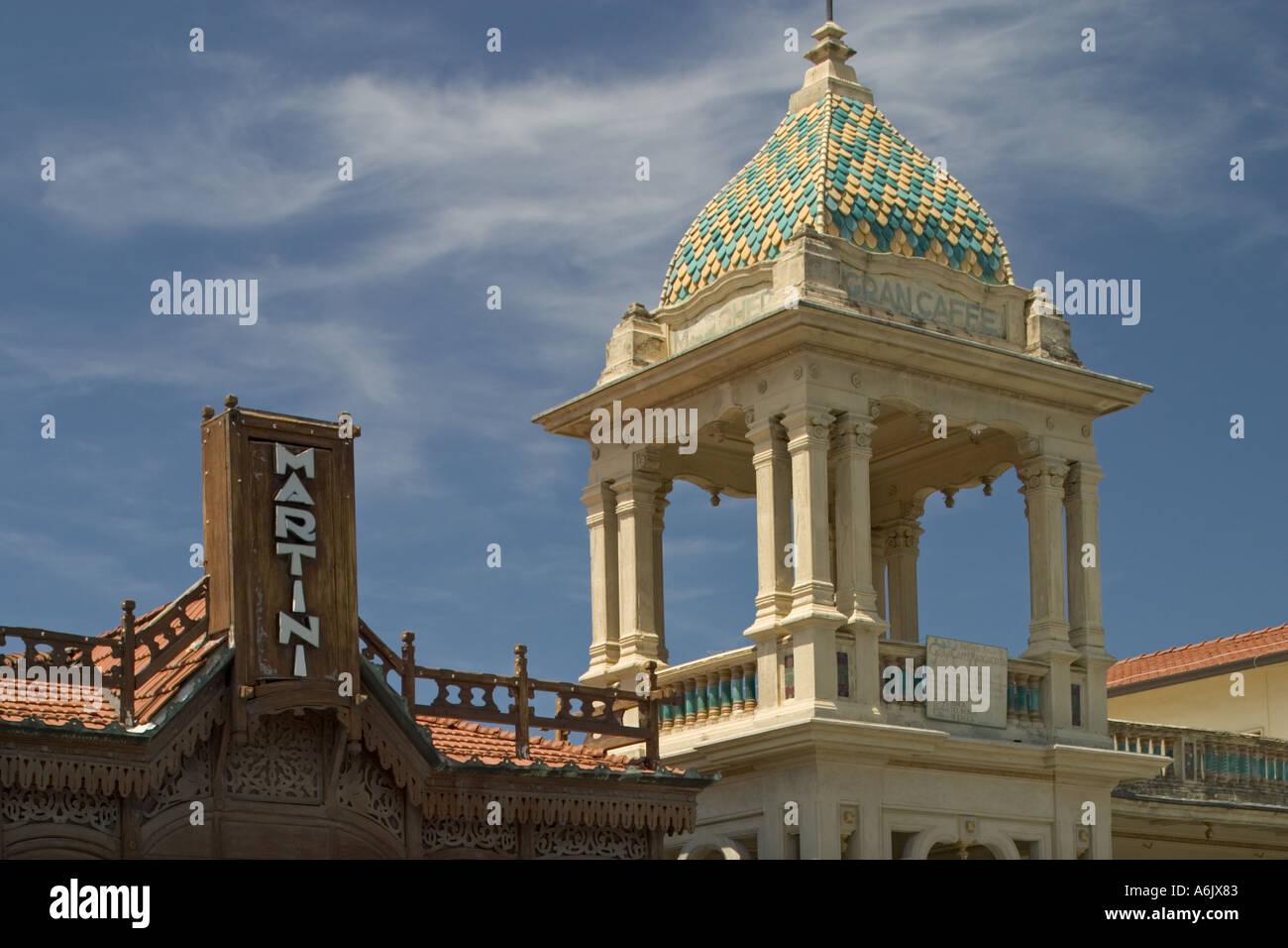 Viareggio toscana italia architettura liberty località balneare Mar Tirreno Immagini Stock