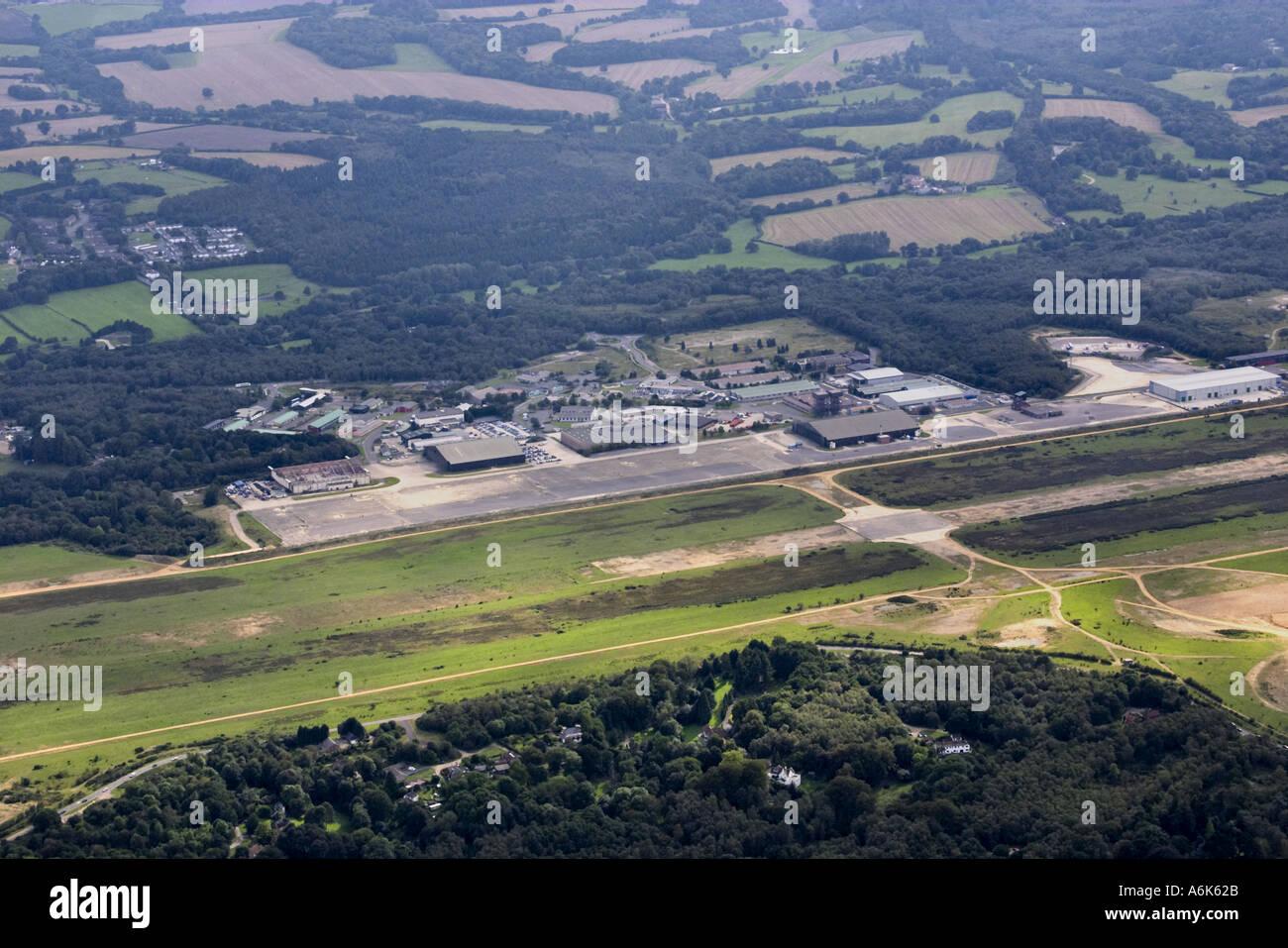 Foto aerea di Greenham Common airfield Immagini Stock