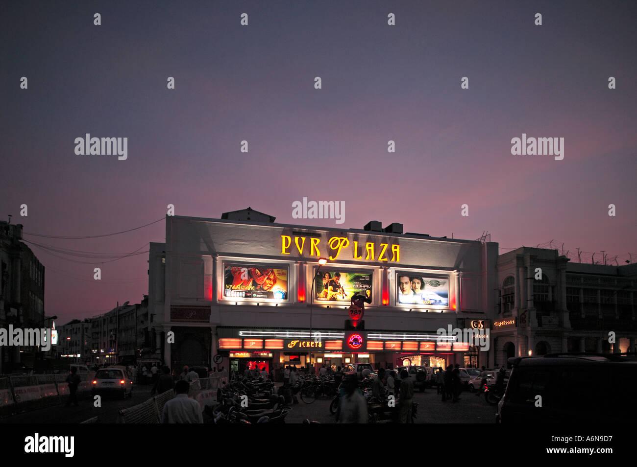 Plaza Cinema Connaught Place New Delhi India Immagini Stock