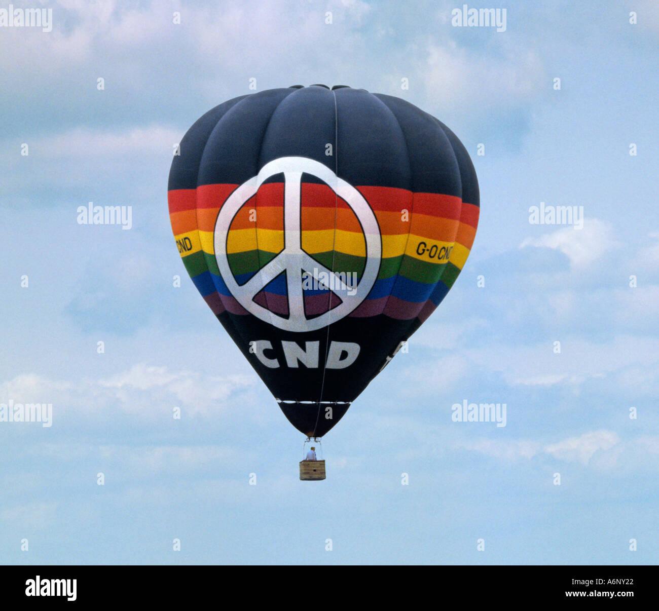 CND palloncino a CND rally Immagini Stock