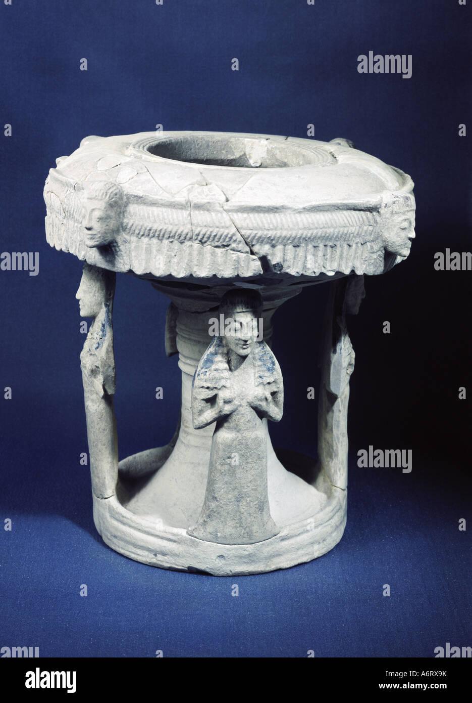 Energia, lampade e luce, olio lampada, ceramica greca, VI secolo A.C., Museo Nazionale di Reggio Calabria, il mondo Immagini Stock