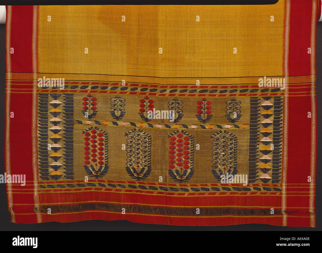 Sari. Tanjore (Thanjavur), Tamil Nadu, India meridionale, a metà del XIX secolo. Immagini Stock