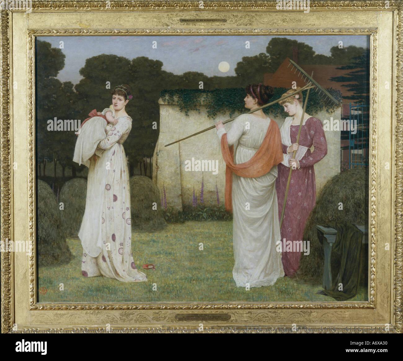 Il campo di fieno da Thomas Armstrong. Inghilterra, fine del XIX secolo. Immagini Stock