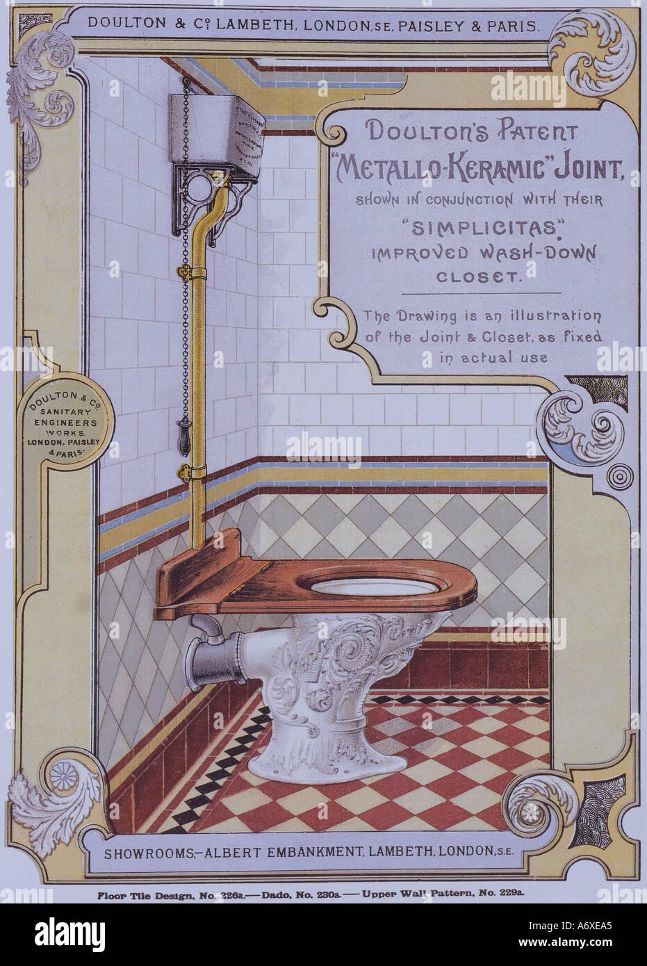 Bagno in stile vittoriano catalogo. Londra, Inghilterra, fine del XIX secolo. Immagini Stock