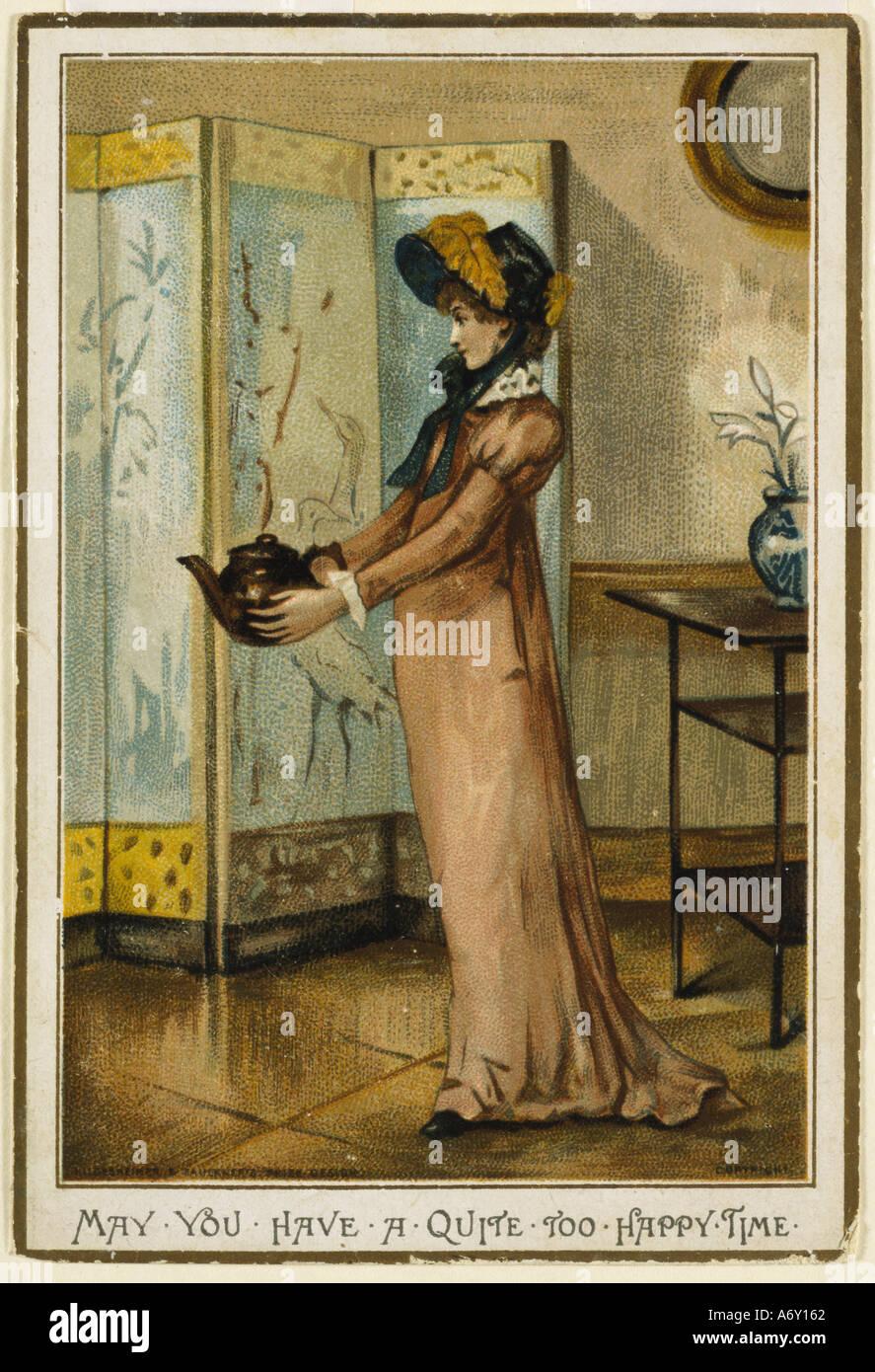 Abbiate un po' troppo tempo felice di Albert Ludovici II. Inghilterra, 1881. Immagini Stock