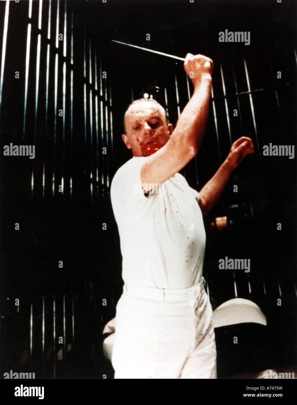 Il SILENZIO DEGLI INNOCENTI 1990 Rank/Orion film con Anthony Hopkins come dottor Hannibal Lecter Immagini Stock