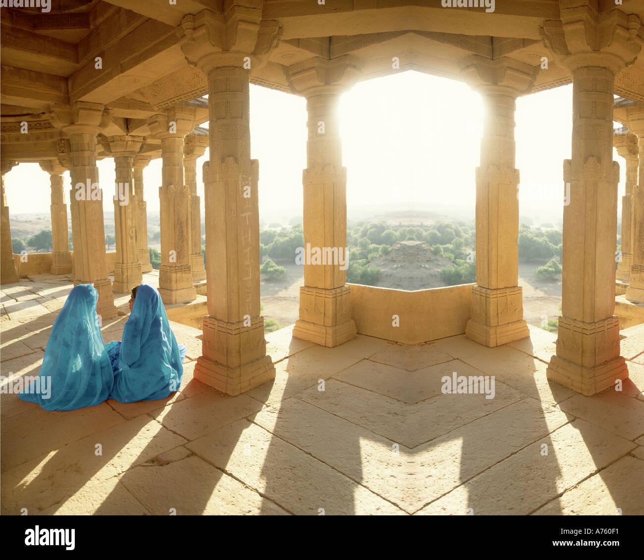 Le donne indiane, Jaiselmer, Rajasthan, India Immagini Stock