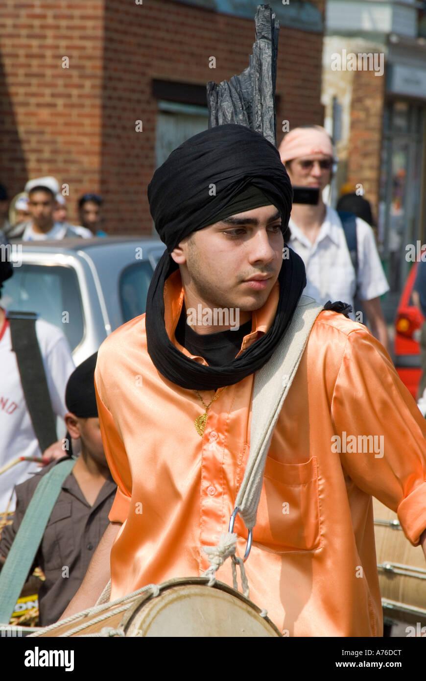 Vaisakhi Celebrazioni in Southampton Inghilterra che ha una grande comunità sikh Immagini Stock
