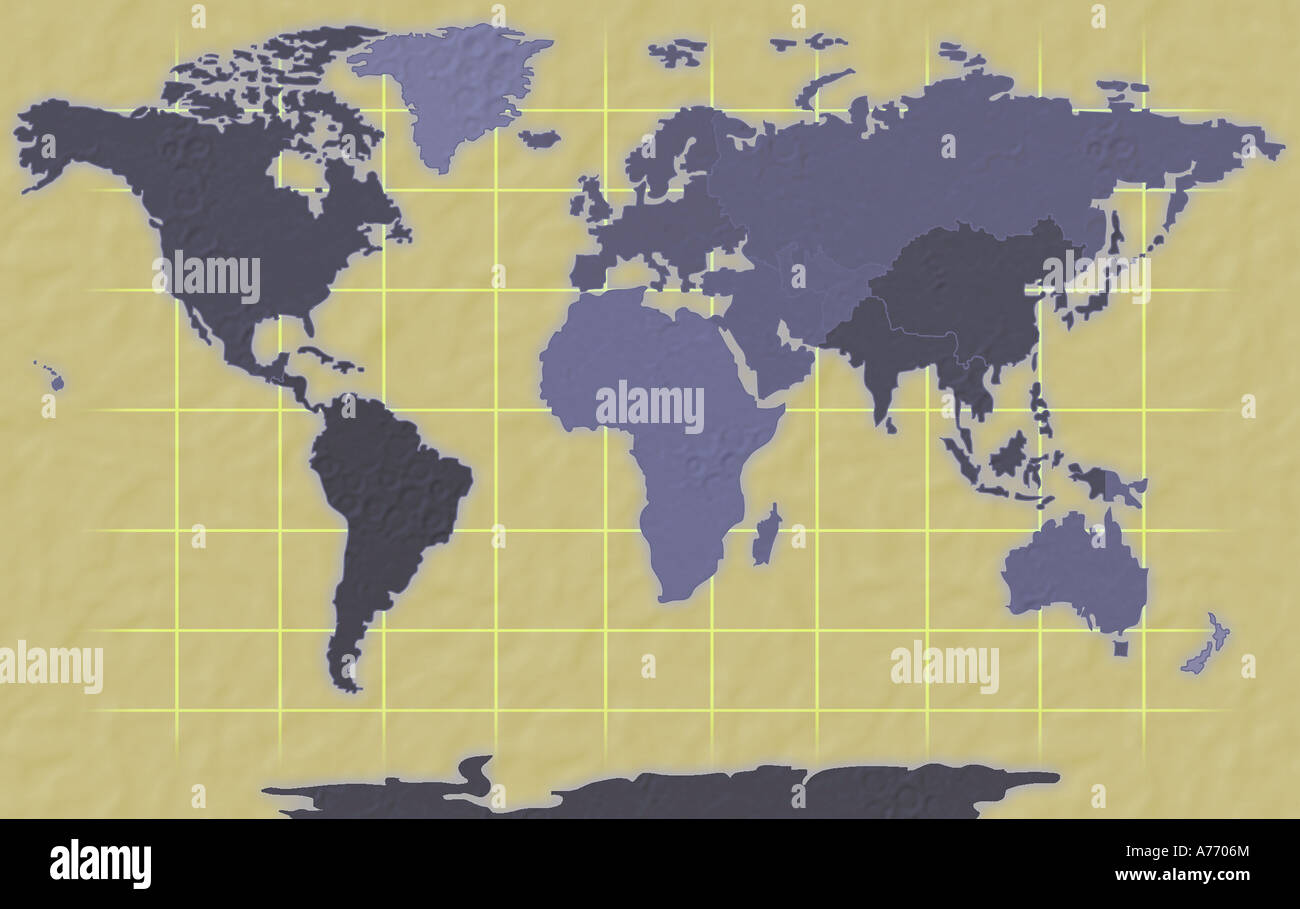 Map of world immagini & map of world fotos stock alamy