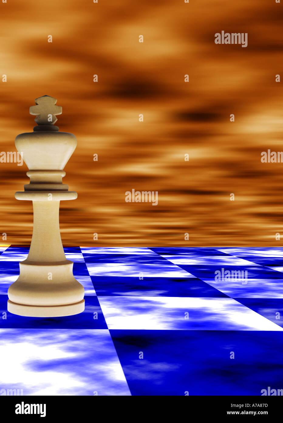 Gigante, Scacchi, pezzi, gioco, concetto astratto di effetti speciali, strategia, teoria, razionale, studio, matematiche, modello Immagini Stock
