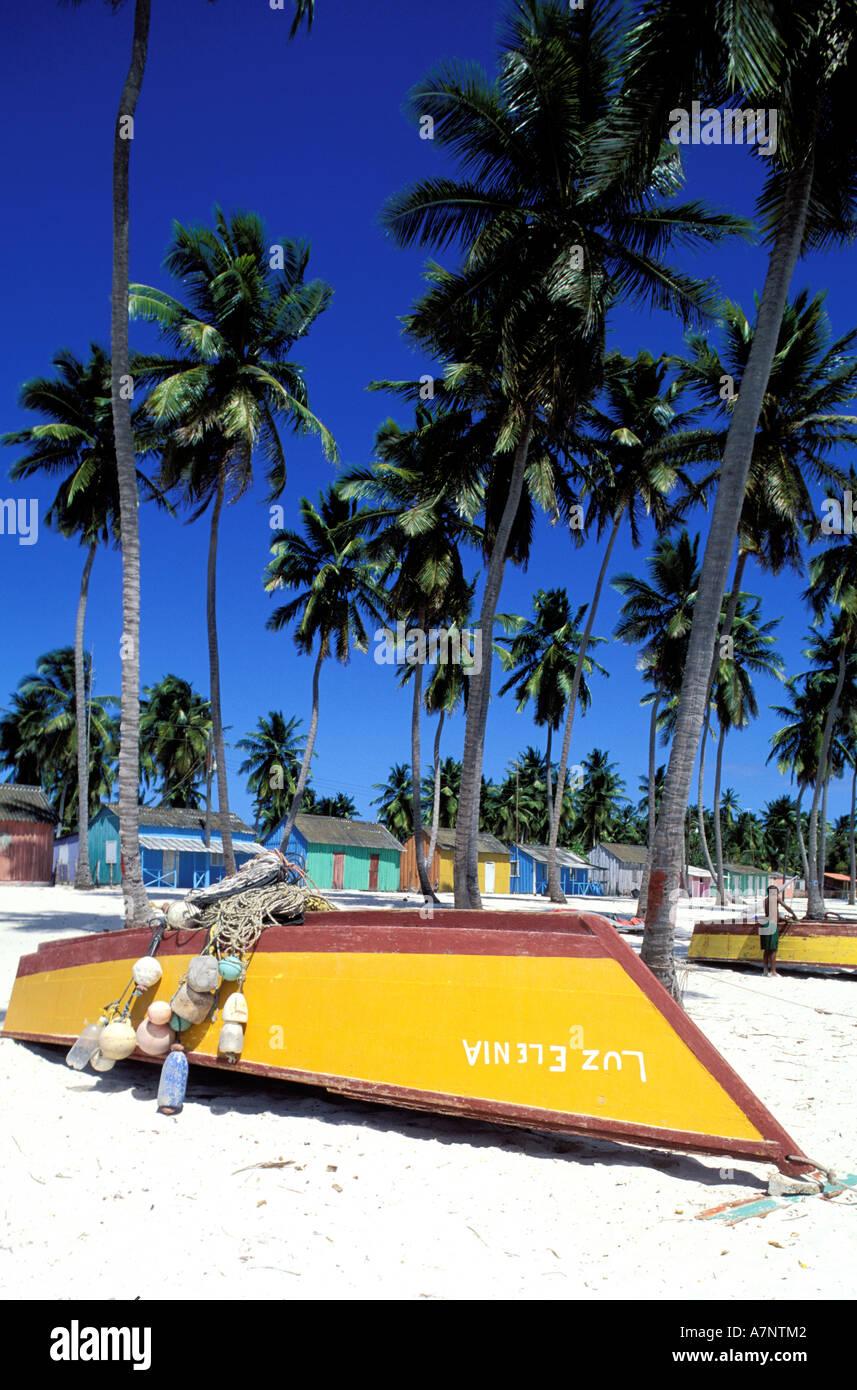 Repubblica Dominicana, Saona Island, Mano Juan, il villaggio di pescatori di Immagini Stock