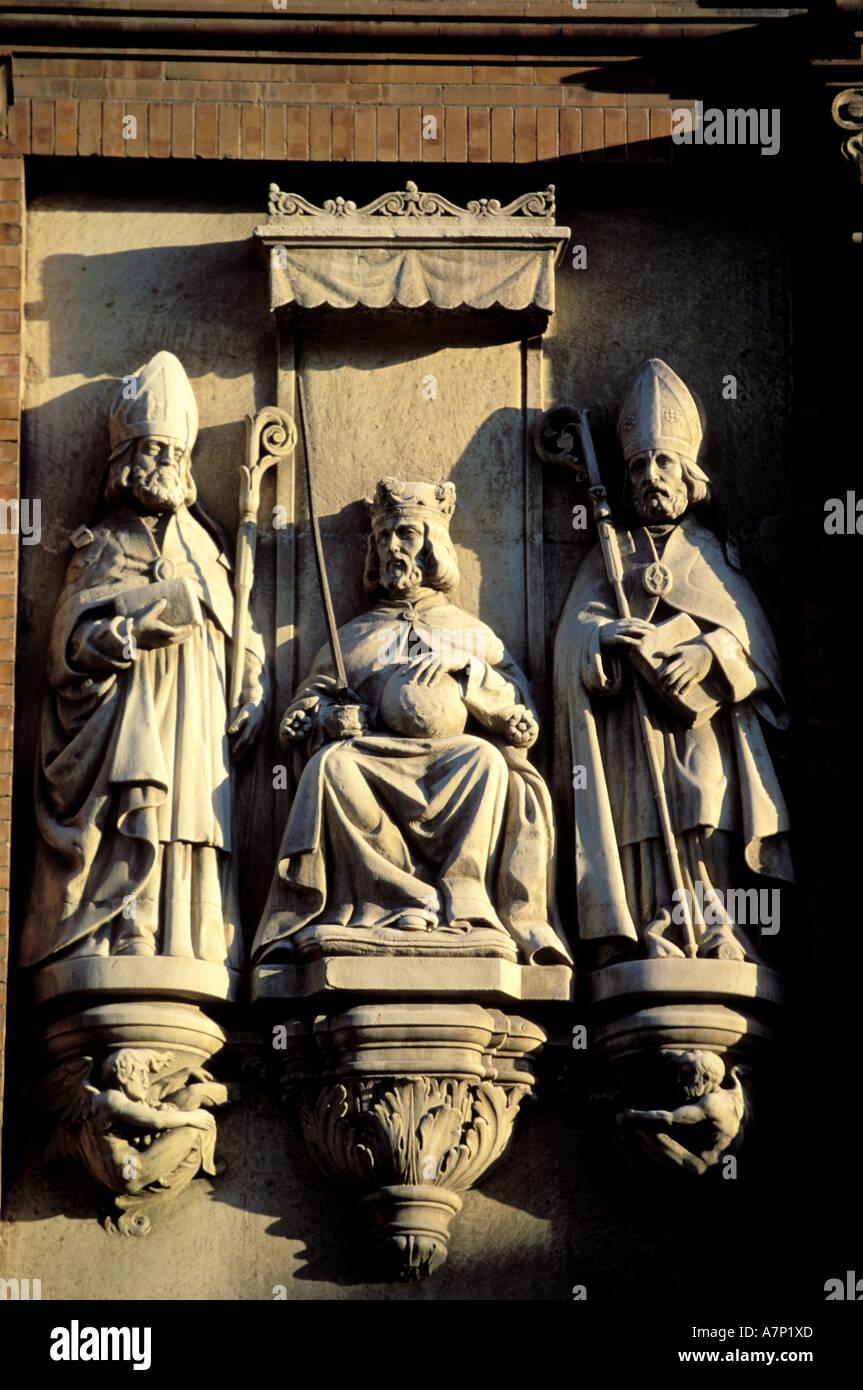 Spagna, Andalusia, Sevilla, l'arte religiosa dettaglio Immagini Stock