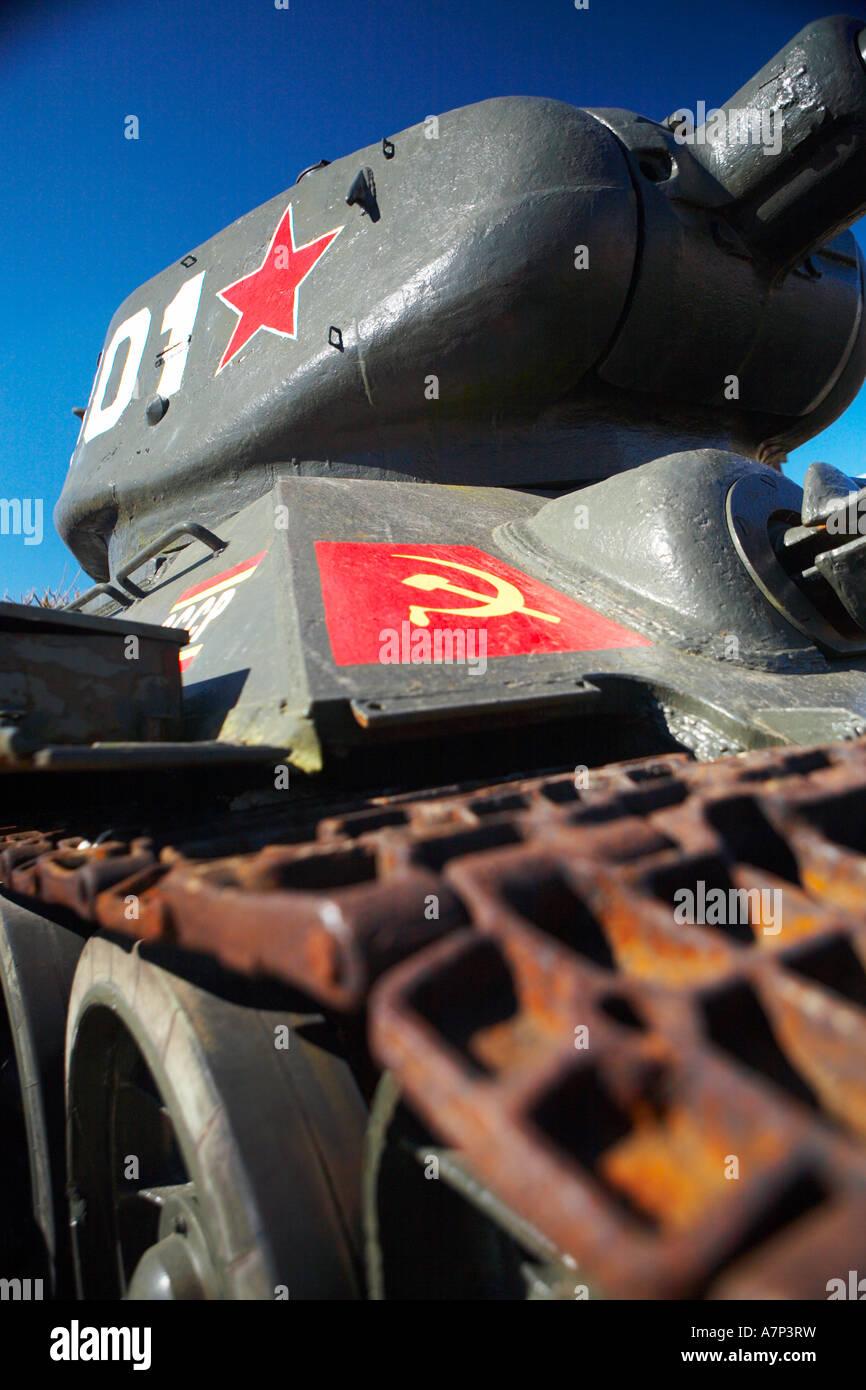 Carro armato sovietico Immagini Stock