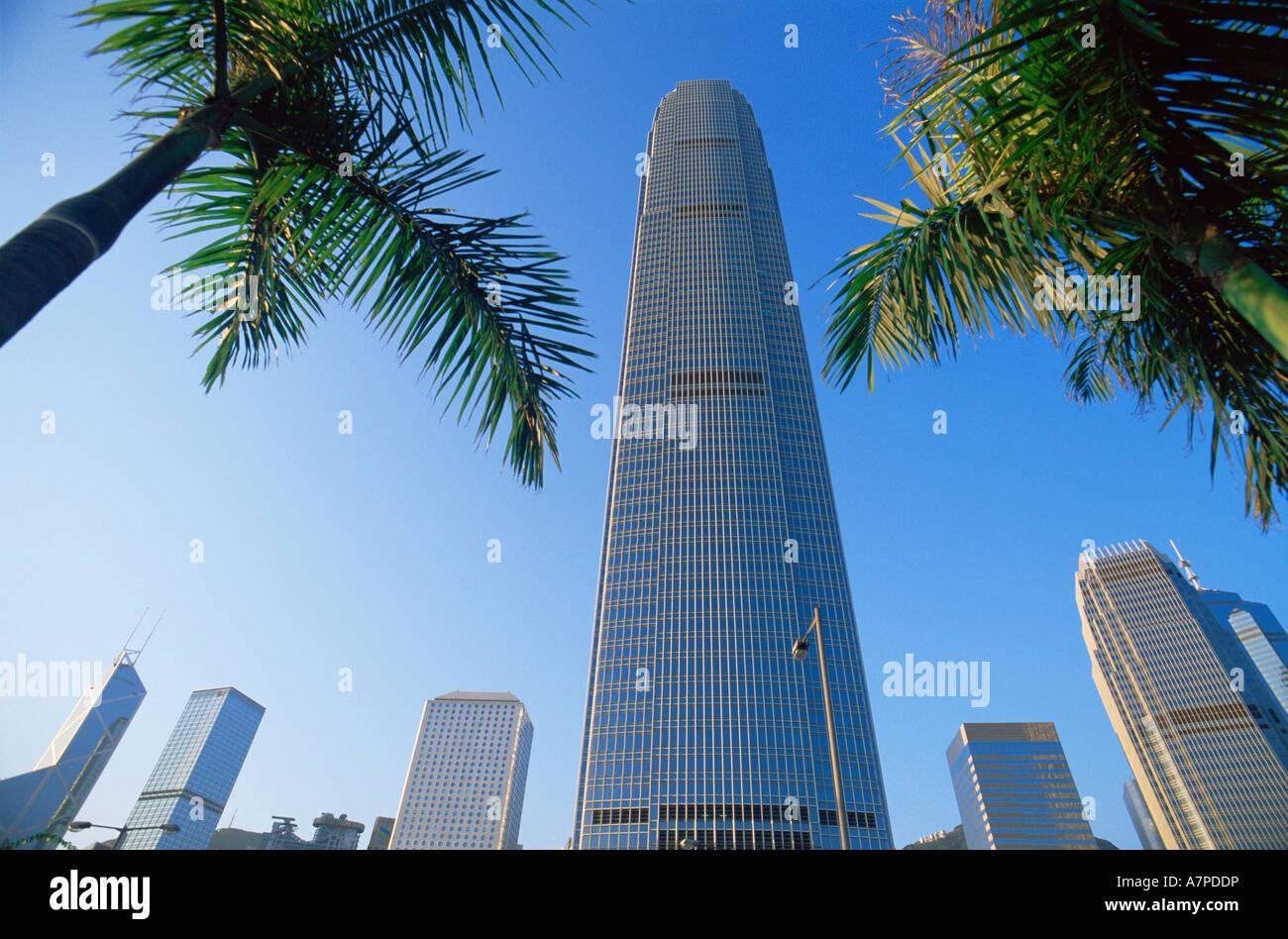 Cina, Hong Kong, centrale, IFC International Finance Centre Building Immagini Stock