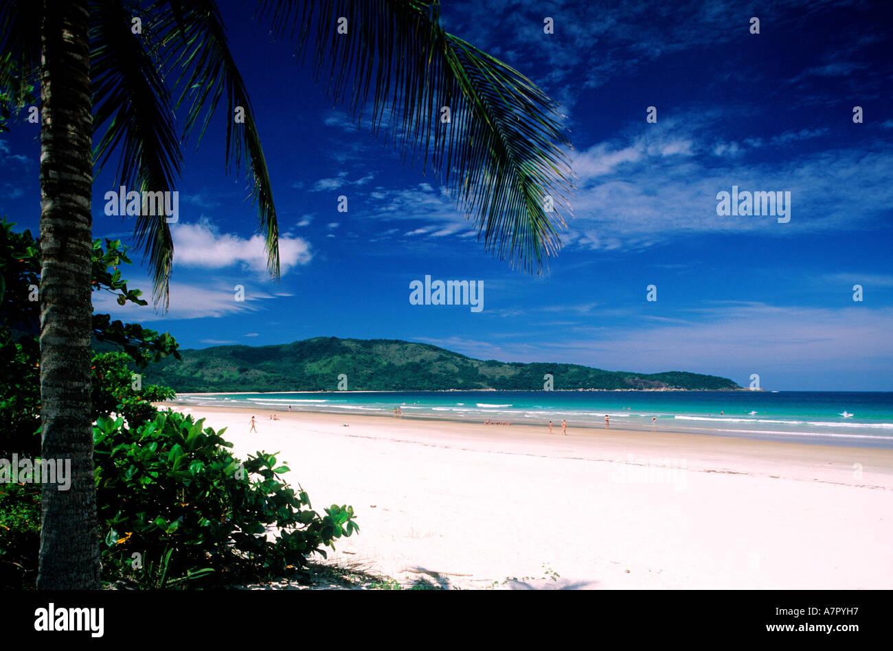 Il Brasile, Stato di Rio de Janeiro, Costa Verde, Ilha Grande Isola, 1 ore di barca di Angra dos Reis, Lopes Mendes beach Immagini Stock