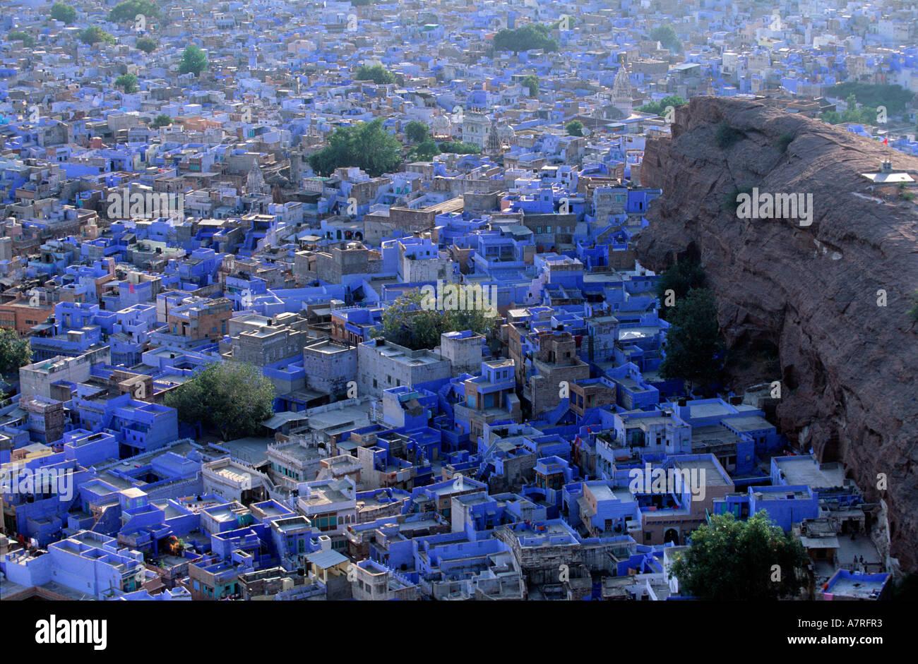 India Rajasthan, Jodhpur la città blu Foto Stock