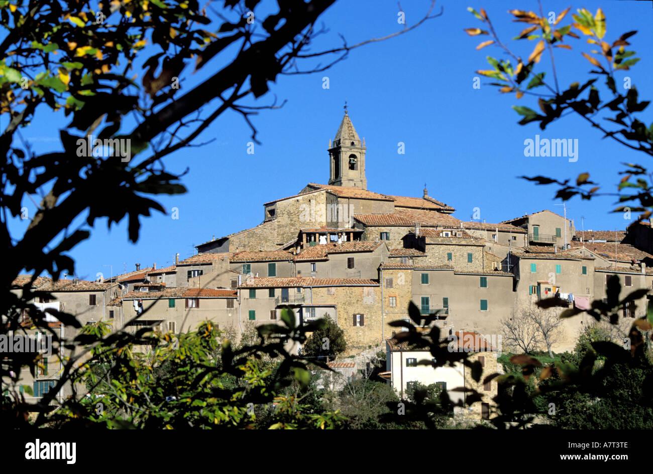 L'Italia, Toscana, il villaggio di Monticello Amiata vicino al Monte Amiata Foto Stock