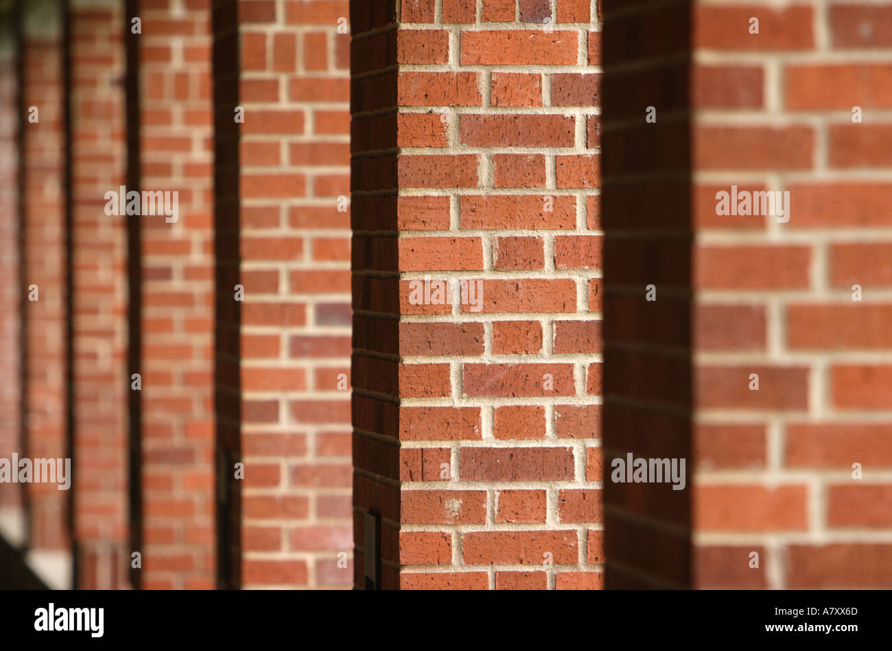 Pilastri in mattoni Immagini Stock