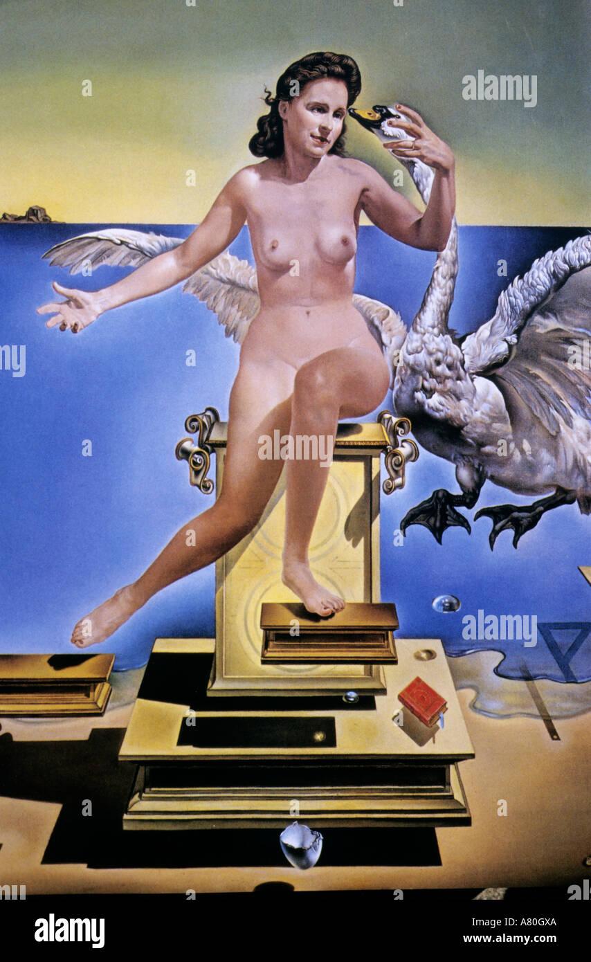 In Spagna, in Catalogna, Dali del dipinto, Leda Atomique, 1949 Immagini Stock