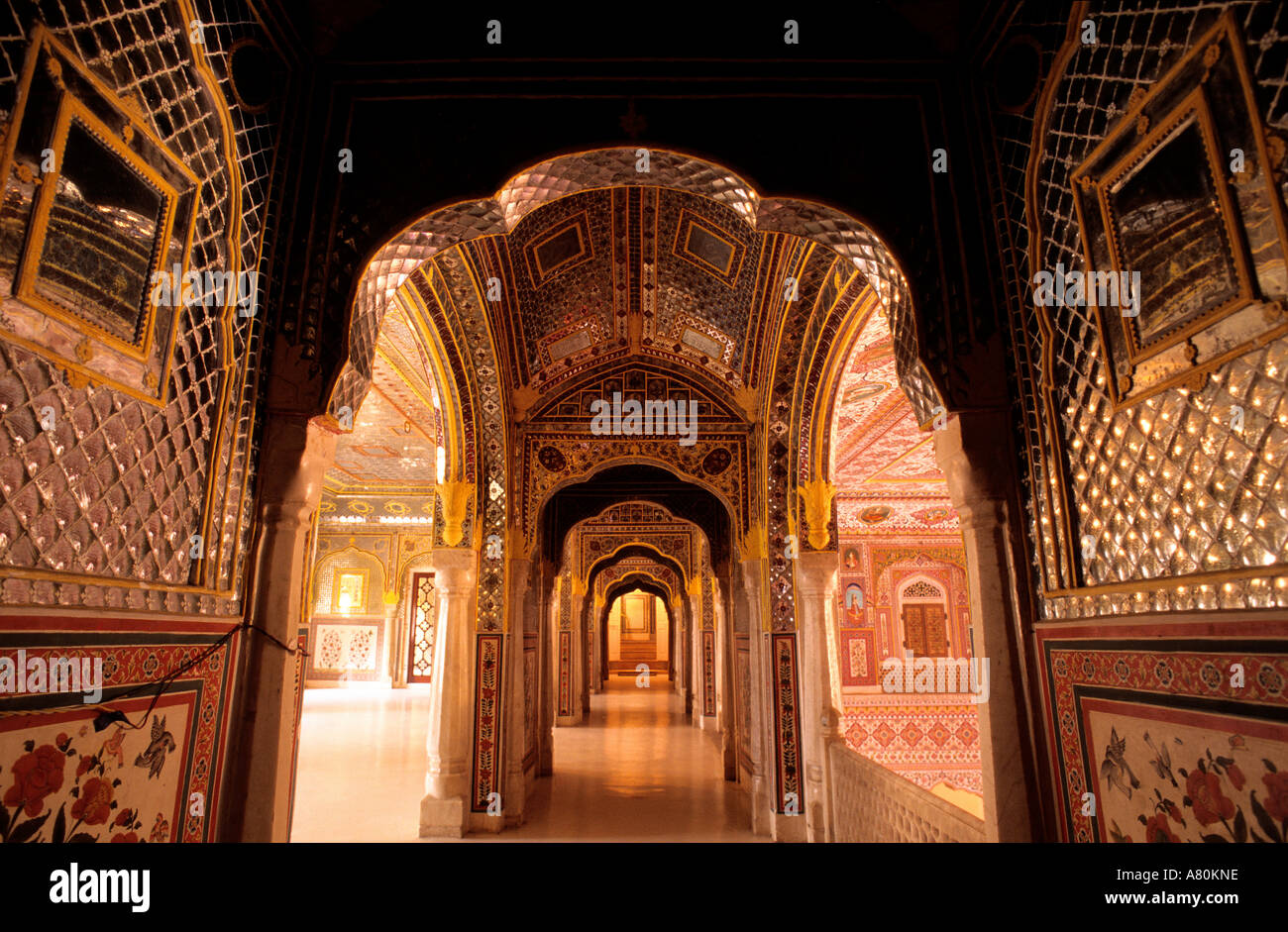 India Rajasthan, Samode village, Samode Palace Hotel Immagini Stock