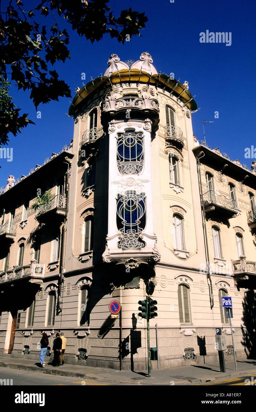 L'Italia, Regione Piemonte, Città di Torino, Corso Francia, la Fleur house, architecte Pietro Fenoglio, moderno stile Art Nouveau Immagini Stock