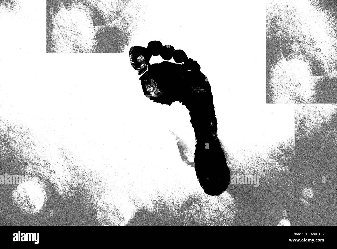 Impronta di carbonio Immagini Stock