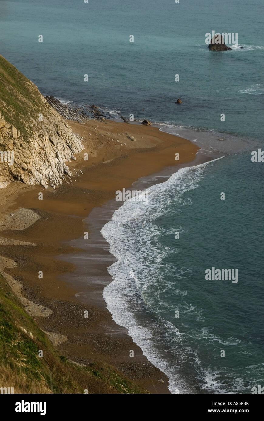 """L'uomo""""o guerra Cove Dorset Marzo 2007 Immagini Stock"""