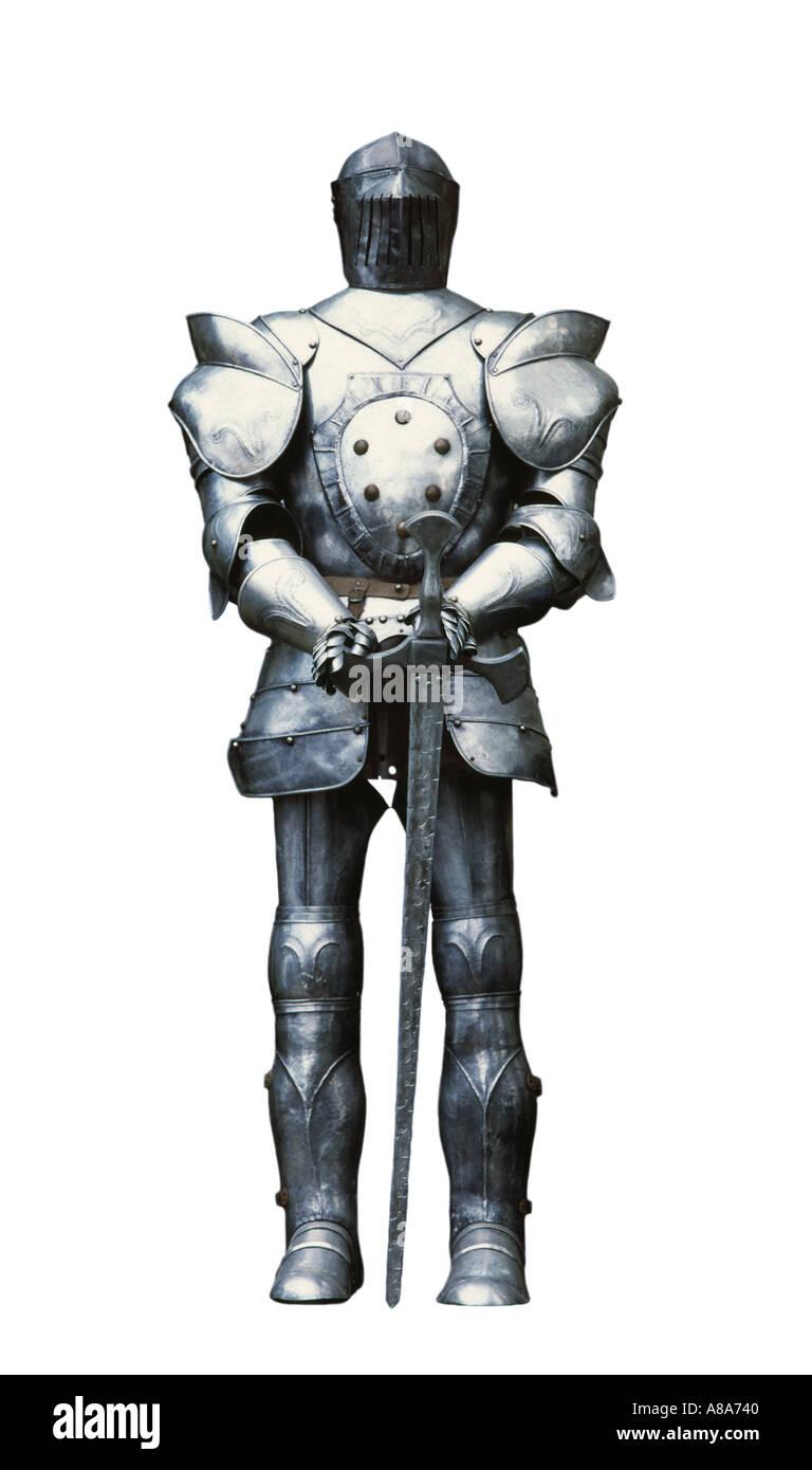 Una tuta di armor knight Immagini Stock