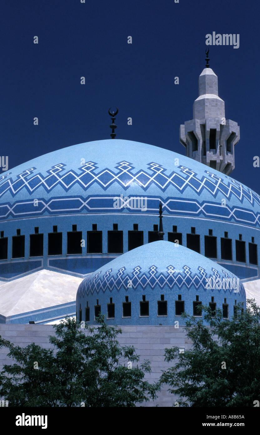 Il re Abdullah moschea, Amman, Giordania. Immagini Stock