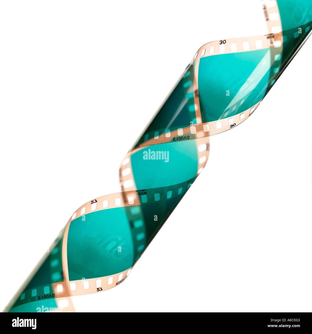 Immagine di un rotolo di pellicola cinematografica Immagini Stock