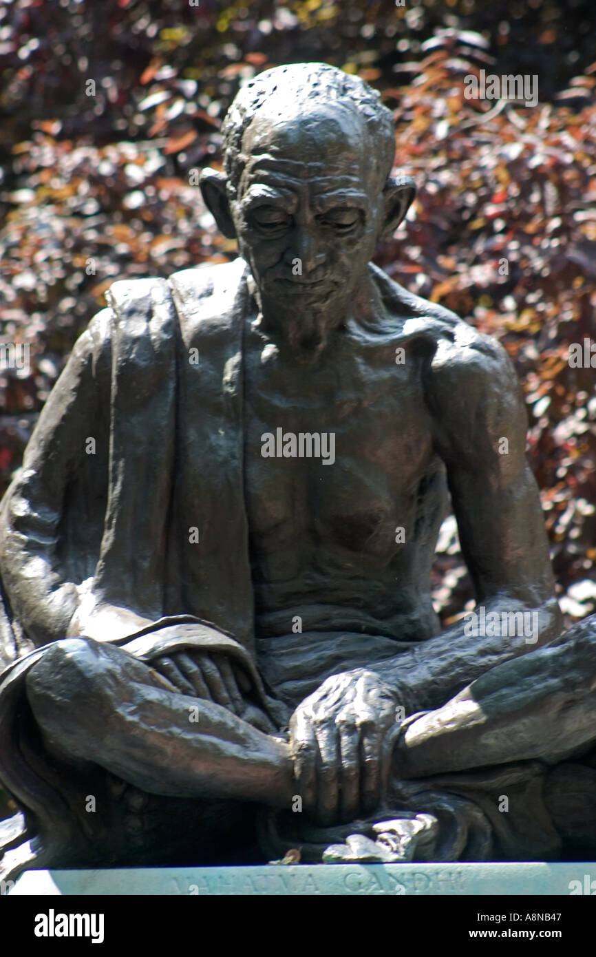Il Mahatma Gandhi statua Tavistock Square London Inghilterra England Immagini Stock