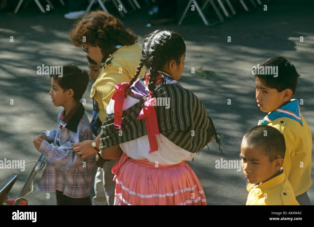 Una miscela di culture e stili in Oaxaca Messico Immagini Stock