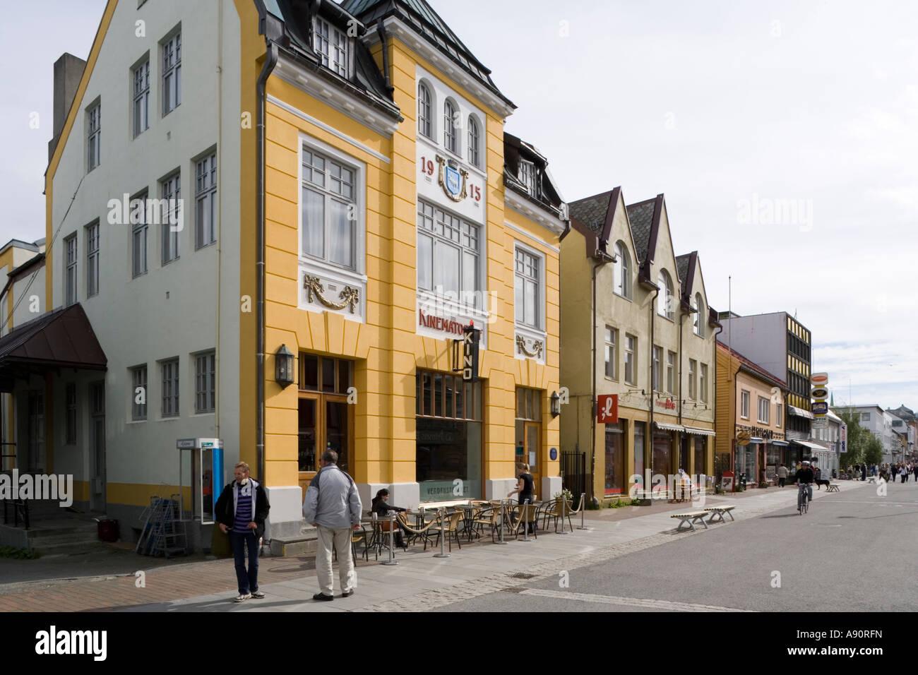 Il più antico cinema in Norvegia (Verdensteateret ) 1915 in Tromso Immagini Stock