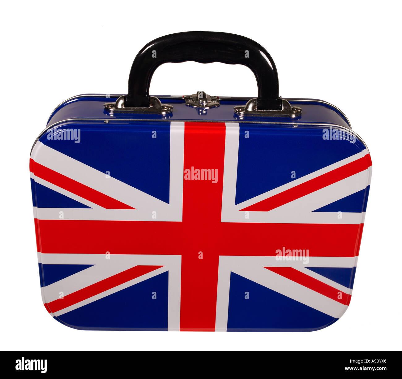 Bandiera britannica scatola di pranzo oggetti Foto Stock