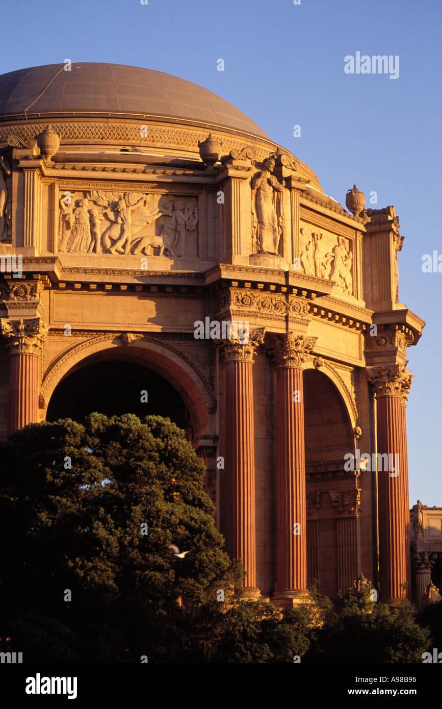 California, San Francisco, il Palazzo delle Belle Arti Immagini Stock