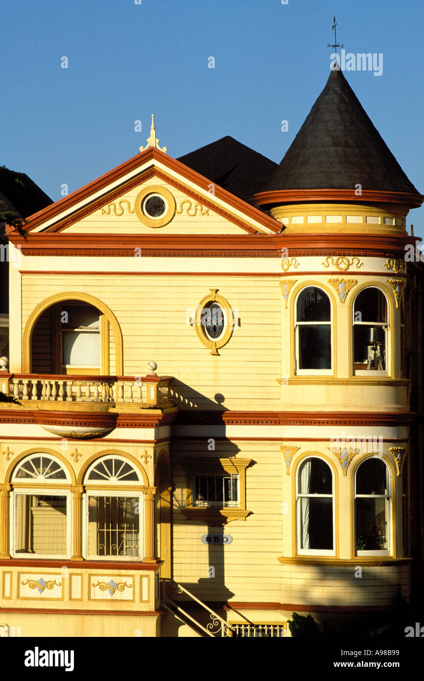 California, San Francisco, Victorian House Immagini Stock