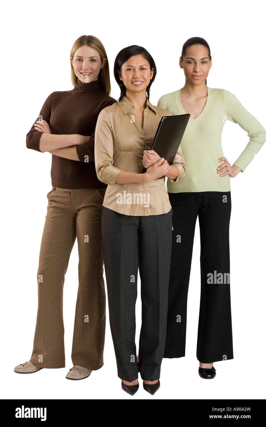 Gruppo di multi etnico imprenditrici Immagini Stock