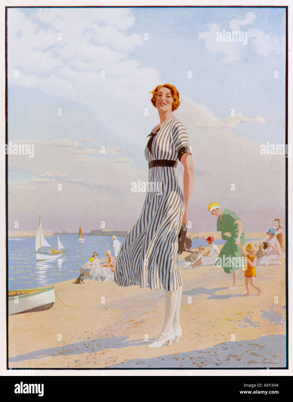 Annuncio ragazza Kodak 1920s Immagini Stock