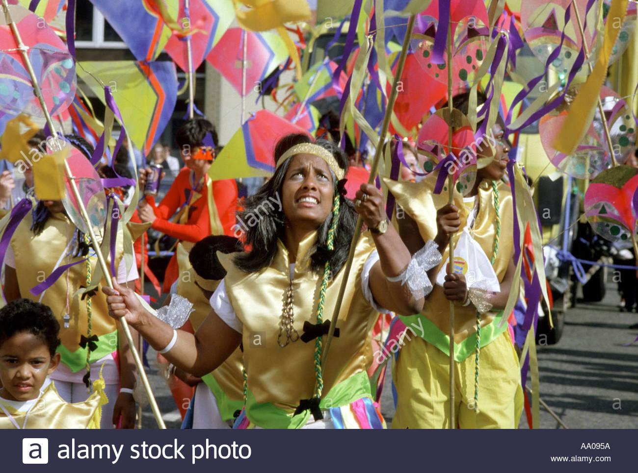 Carnevale di Notting Hill Londra Immagini Stock